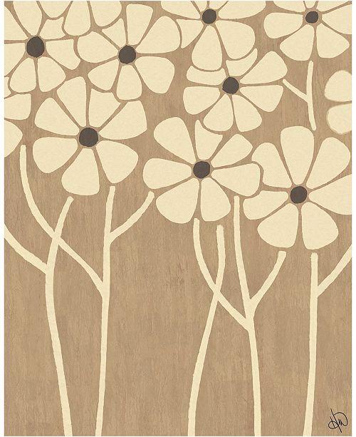 "Creative Gallery Neutral Thin Flower Cluster 16"" X 20"" Acrylic Wall Art Print"