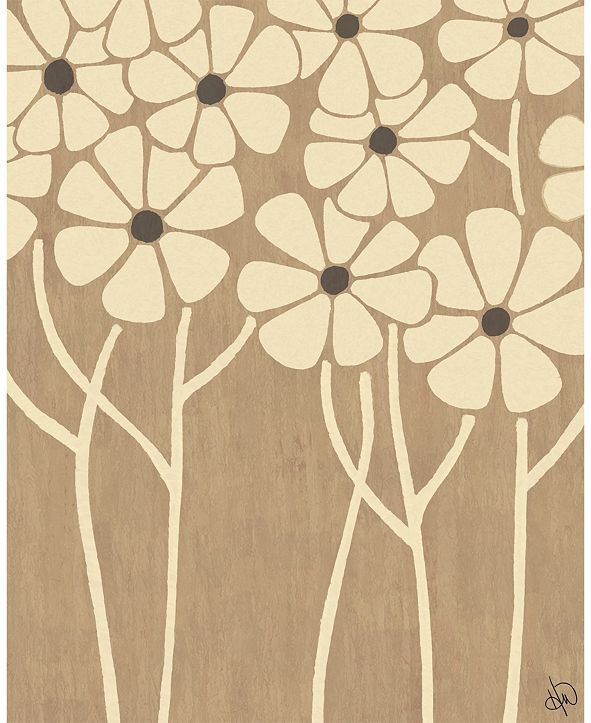 "Creative Gallery Neutral Thin Flower Cluster 16"" X 20"" Acrylic Wall Art Print"