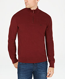 A|X Armani Exchange Men's Quarter-Zip  Sweater