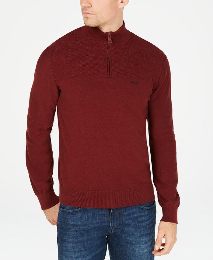 A|X Armani Exchange - Men's Quarter-Zip Sweater