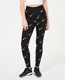 cozy fresh 8cb37 13e4a Nike Sportswear Leg-A-See Metallic-Print High-Rise Leggings