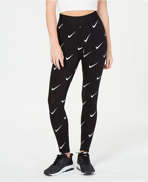 Nike Sportswear Leg-A-See Metallic-Print High-Rise Leggings