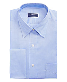 Club Room Men's Slim-Fit Stretch Solid Pinpoint French Cuff Dress Shirt, Created for Macy's