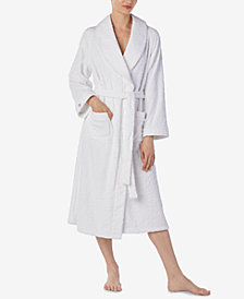 Eileen West Sculpted Microfleece Wrap Robe