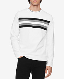Calvin Klein Men's Ribbed Colorblocked Striped Shirt