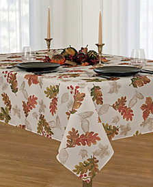 "Elrene Swaying Leaves  60"" X 102"" Tablecloth"