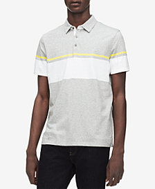 Calvin Klein Men's Two-Tone Striped Polo
