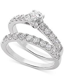 Lab Grown Diamond Bridal Set (1-1/2 ct. t.w.) in 14k White Gold