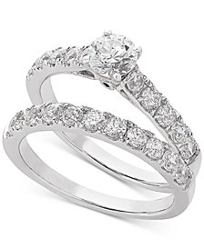 Lab Grown Diamond Bridal Set (1-1/2 ct. t.w.) in 14k White Gold