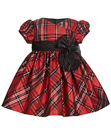 Bonnie Baby Baby Girls Metallic Plaid Dress