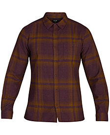 Hurley Men's Connor Plaid Woven Shirt, Created for Macy's