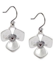 Lucky Brand Crystal Flower Drop Earrings