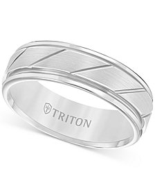 Triton Men's Flat Satin Finish Band in Tungsten Carbide