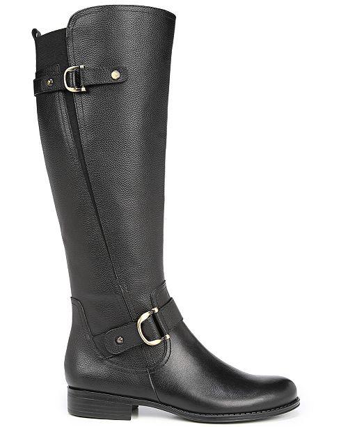 30bd28a3881 Naturalizer Jillian Wide Calf Riding Boots   Reviews - Boots - Shoes ...