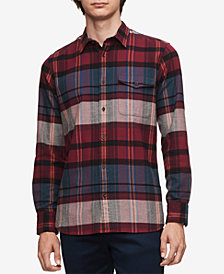 Calvin Klein Men's Plaid Set-On Placket Shirt