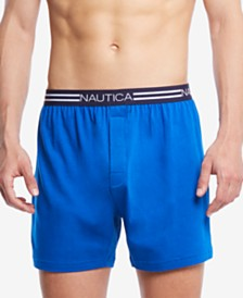 Nautica Men's Printed Knit Cotton Boxers