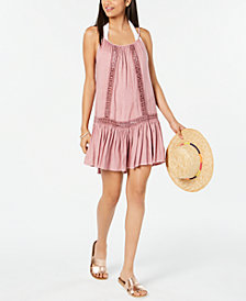 Raviya Crochet-Trim Cover-Up Dress