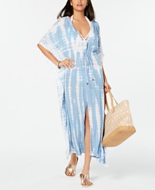 Raviya Tie-Dye Maxi-Dress Cover-Up