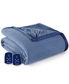 Shavel Micro Flannel® to Ultra Velvet® Queen Camel Electric Comforter/Blanket