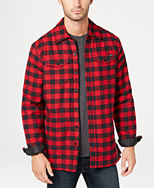 Dickies Men's Fleece-Lined Plaid Flannel Shirt Jacket