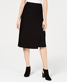 Eileen Fisher Washable Crepe Wrap Skirt, Created for Macy's