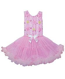Colorful Flower Pattern Petti Dress