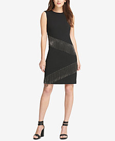 DKNY Metal Fringe Sheath Dress, Created for Macy's