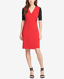 DKNY Colorblocked A-Line Dress, Created for Macy's