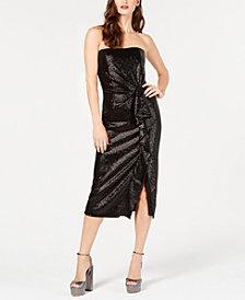 Rachel Zoe Strapless Sequin Krista Dress