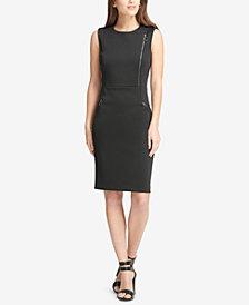 DKNY Sleeveless Zipper Sheath Dress, Created for Macy's