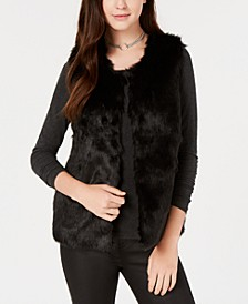 Juniors' Faux-Fur Vest