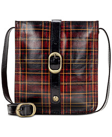 Patricia Nash Venezia Tartan Plaid Leather Crossbody