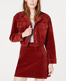 Tinseltown Oversized Cropped Corduroy Jacket
