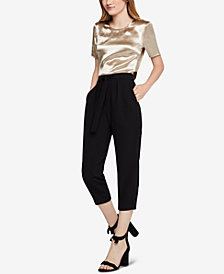 BCBGeneration Satin Crop Top