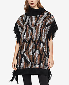 BCBGMAXAZRIA Cowl-Neck Fringe Sweater