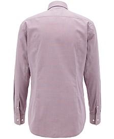 BOSS Men's Slim-Fit Patterned Cotton Shirt