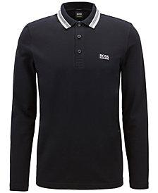 BOSS Men's Regular/Classic-Fit Long-Sleeve Piqué Polo