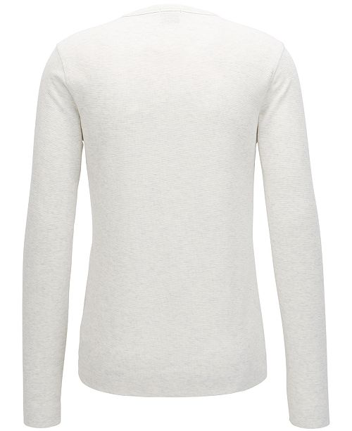 3ce53c8e9 ... Hugo Boss BOSS Men's Slim-Fit Long-Sleeve Cotton Henley Shirt ...