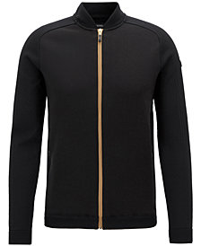 BOSS Men's Full-Zip Bomber Sweater