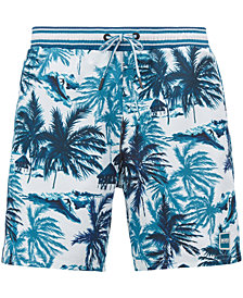 BOSS Men's Palm-Print Swim Shorts