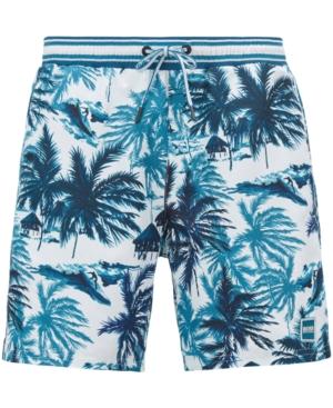 Boss Men's Palm-Print Swim Shorts