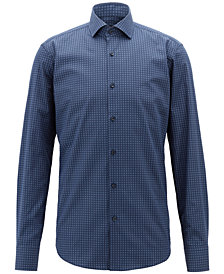 BOSS Men's Geo-Print Cotton Shirt
