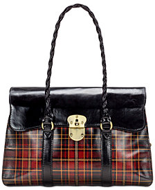 Patricia Nash Vienna Tartan Plaid Leather Satchel