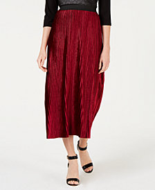 NY Collection Petite Burnout Pull-On Skirt