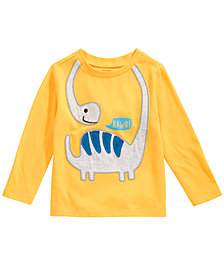 First Impressions Baby Boys Long-Sleeve Dino Rawr T-Shirt, Created for Macy's