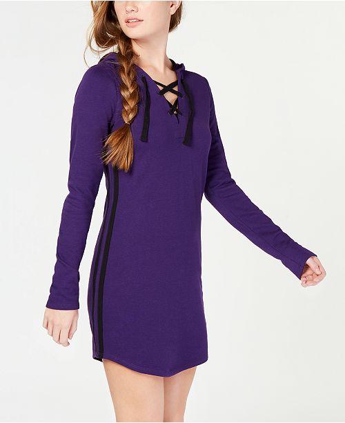 d2dcce61a7e ... Material Girl Juniors  Varsity-Stripe Sweater Dress