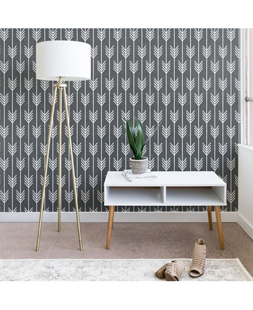 Deny Designs Holli Zollinger Arrows Grey 2'x8' Wallpaper