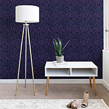 Deny Designs Ninola Design Cosmic Circles Ultraviolet Dots Bubbles Wallpaper