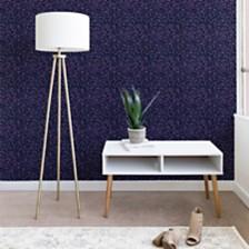 Deny Designs Ninola Design Cosmic Circles Ultraviolet Dots Bubbles 2'x10' Wallpaper