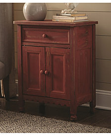 Country Cottage Accent Cabinet, Red Antique Finish